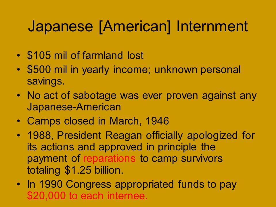 Japanese [American] Internment